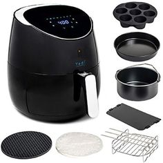 Total Package XL Air Fryer, 100 Recipes Included, with Cooking Basket Divider and Deluxe Accessory Kit by Yedi Houseware QT) New Air Fryer Recipes, Large Air Fryer, Air Fryer Review, Air Fryer Chicken Wings, Best Air Fryers, Top Air, Organized Mom, Drip Coffee Maker, No Cook Meals