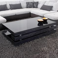 Couchtisch modernes design  Design Couchtisch MONOBLOC XL 100cm hochglanz weiss | Couchtisch ...