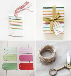 Handmade gift tags with natural twine add a special touch to any kind of packaging.