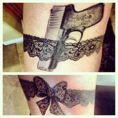 I am not in love with the gun, but I love the thinner lace garter