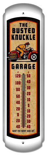 Vintage Motorcycle Wall Thermometer