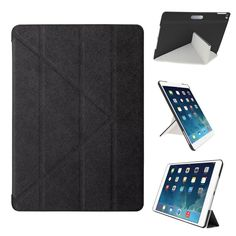 iPad Air 2 Case - OZAKI O!coat Slim-Y Versatile New Generation Multi Angle Smart Case For Apple iPad Air 2 / Front and Back Protection / Easy Full Access / Portrait and Landscape - Black Ipad Air 2 Cases, Ipad Case, Best Ipad, Apple Ipad, Gadget, Cell Phone Accessories, Phones, Slim, Landscape