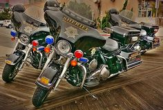 police motorcycles from the Worcester County Sheriff's Office