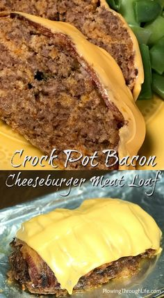 Our Crock Pot Bacon Cheeseburger Meat Loaf is an easy dinner and it can be sliced to make bacon cheeseburger sandwiches if desired. Even the picky eaters in our family loved this spin on cheeseburgers! Bacon Cheeseburger Meatloaf, Cheeseburger Cheeseburger, Meat Restaurant, Meat Loaf Recipe Easy, Meat Appetizers, Best Meat, Meatloaf Recipes, Crock Pot Meatloaf, Crockpot Recipes