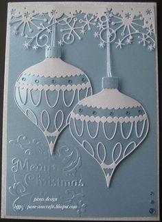 new memory box. Colette Ornament. quick Christmas card by pilar laguna