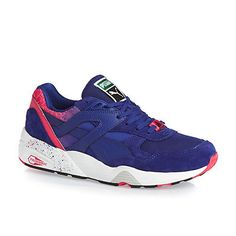 7395a26ae325 Puma Trinomic R698 Splatter Shoes Mazarine Blue Teaberry Red Mens  10.5 Womens 12