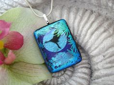 Fused Dichroic Glass Jewelry  Bird Flight  Pendant  by ccvalenzo, $28.00