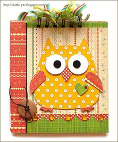 Sizzix.co.uk - Blogs. This Sizzix owl is so cute!
