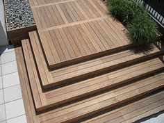 combination wood and paver patio - Google Search