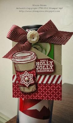 Stampin' & Scrappin' with Stasia: 10th day of Christmas - Coffee Mug Gift Card Holder http://www.stampzone.blogspot.com/2013/11/10th-day-of-christmas-coffee-mug-gift.html