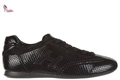Hogan chaussures baskets sneakers femme en cuir olympia h flock noir EU 37 HXW0570168775EB999 - Chaussures hogan (*Partner-Link)