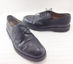 Bruno Magli Renato Black Pebbled Leather Oxfords Shoes Mens 10M Made in Italy #BrunoMagli #Oxfords
