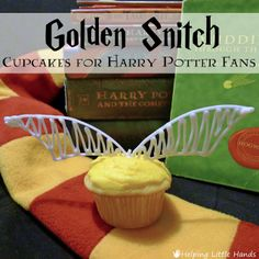 Golden Snitch Cupcakes for Harry Potter Party