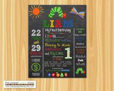 Very Hungry Caterpillar First Birthday Chalkboard Poster | The Very Hungry Caterpillar Birthday | 1st Birthday Milestone Sign | Printable by ThePaperGiraffeShop on Etsy