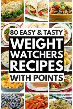 Regardless of whether you're on the Weight Watchers diet there are HEAPS of delicious Weight Watchers meals you can enjoy as a compliment to your weightloss efforts. We've rounded up 80 of our favorite Weight Watchers recipes with points / smartpoints w Plats Weight Watchers, Weight Watchers Diet, Weight Watcher Dinners, Weight Loss Snacks, Weight Watchers Meal Plans, Ww Recipes, Healthy Recipes, Snack Recipes, Dessert Recipes