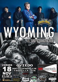 Concierto de Wyoming y los Insolventes en Oviedo