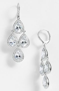 Nadri Cubic Zirconia Chandelier Earrings (Nordstrom Exclusive) available at #Nordstrom