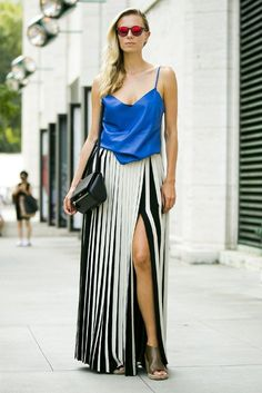 Ditch your horizontal stripes for a skyscraper look.