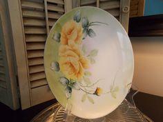 Vintage NIPPON PLATE HANDPAINTED Floral by VintageCreativeAccen