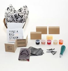 Rad stamp kit, #diy