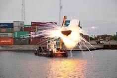 Cai Guo-Qiang | Freja: Explosion Event for Faurschou Foundation  A Clan of Boats  2012