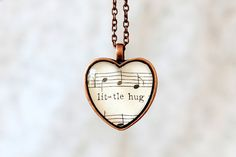Little hug! This is so sweet, you can wear a hug around your neck (in the nice way, not the strangle-y way)