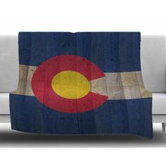 KESS InHouse Flag of Colorado by Bruce Stanfield Fleece Blanket