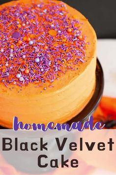Black Velvet Cake is a new take on the classic Red Velvet Cake that's perfect for Halloween celebrations. Black Velvet Cakes, Red Velvet, Halloween Desserts, Halloween Cakes, Beautiful Cakes, Amazing Cakes, Cake Recipes, Dessert Recipes, Orange Food Coloring