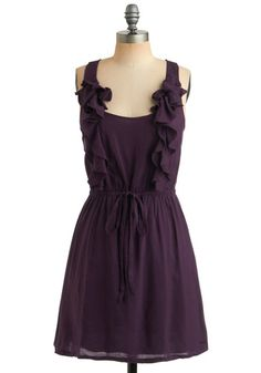 Royal Ruffle Dress. Love this. One of these days, I'll start wearing dresses...