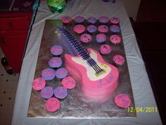 guitars to put on cupcakes | Guitar Cake&Cupcakes — Music / Musical Instruments