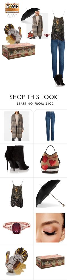 """""""Untitled #3583"""" by ayse-sedetmen ❤ liked on Polyvore featuring AllSaints, Alexander McQueen, Yves Saint Laurent, Burberry, Avon, Herend, Andrew Martin and Cathy's Concepts"""