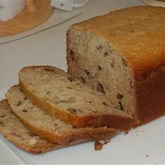 Banana Nut Bread II This is a bread machine recipe for classic banana-nut bread. Bread Machine Banana Bread, Gluten Free Banana Bread, Banana Bread Recipes, Rhubarb Bread, Bread Pudding With Apples, Bread Maker Recipes, Quick Bread, Sweet Bread, Breads