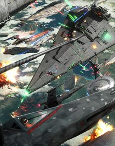 Star Wars Space Battle Has No Chill