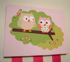 Circo Owl Love and Nature Hair Bow Holder and by lindsayisartsy, $25.00
