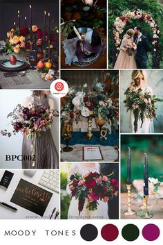 One of the top trends for 2019 is dark and moody tones, along with maximalism. One of 5 predictions for this years trends, click through to see the rest. wedding colors 5 Hot Wedding Trends for 2019 — Rachel Emma Studio Wedding Planner Checklist, Wedding Planning Book, Wedding Book, Dream Wedding, Rustic Wedding, Wedding Stage, Wedding Ceremony, Wedding Venues, 2018 Wedding Trends