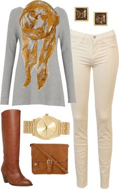 Cream Jeans on Pinterest