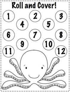 Ocean Open Ended Activities {Freebie}. Great for articulation therapy. After every practice, kids can cover up a number.  Repinned by Speech, Language, Literacy Lab. Visit all our boards at: http://www.pinterest.com/sl3lab/
