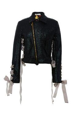 Negan Wax Brocade Jacket by SANDRA MANSOUR for Preorder on Moda Operandi