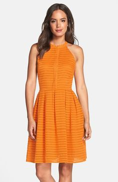 Cynthia+Steffe+'Judith'+Shadow+Stripe+Jacquard+Fit+&+Flare+Dress+available+at+#Nordstrom