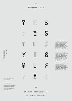 Yes Yes Yes Alternative Poster by Giovanni Murolo & Elisa Chieruzzi
