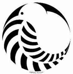 Super kiwi bird logo new zealand Ideas Bird Skull Tattoo, Bird Tattoo Foot, Bird Tattoo Sleeves, Simple Bird Tattoo, Red Bird Tattoos, Fern Tattoo, Body Art Tattoos, Maori Symbols, Maori Patterns