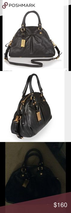 Marc Jacobs classic Q Aidan black bag Had this beauty for a few years now normal wear ( can post clearer pictures upon request ) in excellent condition no stains scratches! The only thing I misplaced the long strap :( but replaceable no big deal ! Cleaning out my closet.. Will be posting more things Offers accepted! Marc Jacobs Bags Hobos