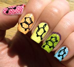 Inspiration on Nucleotides by Eva Klinman. Check out more Nails on Bellashoot. College Nails, School Nails, Fun Nails, Pretty Nails, Wide Nails, Nailart, Nail Time, Manicure E Pedicure, Cool Nail Designs