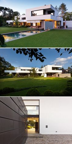 Architect Stephan Maria Lang, designed a new home for a young family in Munich, Germany.