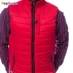 Férfi vékonyan tömött kifordítható mellény, passzés derékkal, piros oldalán két cipzáras zsebbel és egy cipzáras zsebbel az elején, gumi címkével a jobb zseb alatt, kék oldalán két szabásvonalba helyezett zsebbel, gumi címkével a bal elején. Anyaga: 100% nejlon, lightweight. Méret: 2XL Bali, Jackets, Fashion, Down Jackets, Moda, Fashion Styles, Fashion Illustrations, Jacket