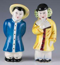 Vintage Ceramic Japanese Man & Lady Couple Salt & Pepper Shakers Made In Japan Japanese Couple, Japanese Men, Salt Pepper Shakers, Salt And Pepper, Chinese Figurines, Grandmothers Love, Vintage Ceramic, Oriental, Disney Characters