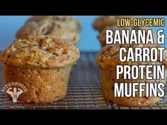 Low Glycemic Index Banana, Carrot & Oat Protein Muffins | Fit Men Cook