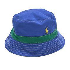 8e585236a23 Polo Ralph Lauren Bucket Hat Reversible Solid Pattern Cap Pony Logo Prl New