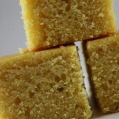 Montana's Buttery Cornbread~I have been trying to find a cornbread recipe that tastes like Montana's cornbread. This is the closest I have come to. Adam always wants cornbread when we eat my vegetarian chili, and this one does not disappoint.