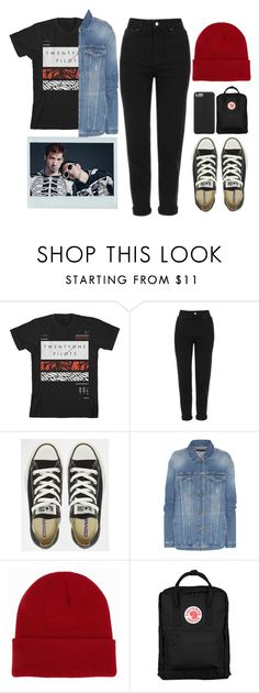 """""""#78 : twenty øne piløts"""" by kawaii-llama ❤ liked on Polyvore featuring Topshop, Converse, 7 For All Mankind, NLY Accessories, Fjällräven, Case-Mate, ootd, tylerjoseph and joshdun"""